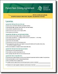 Free Parent-Teen Driving Agreement (Printable PDF)